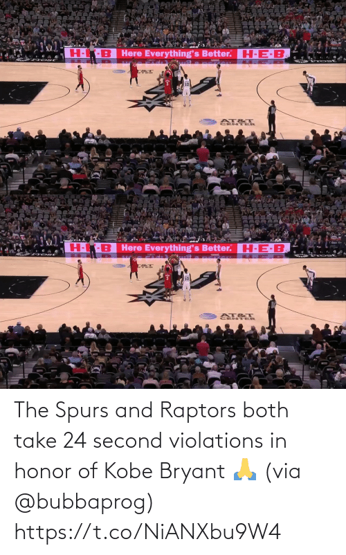 honor: The Spurs and Raptors both take 24 second violations in honor of Kobe Bryant 🙏 (via @bubbaprog) https://t.co/NiANXbu9W4