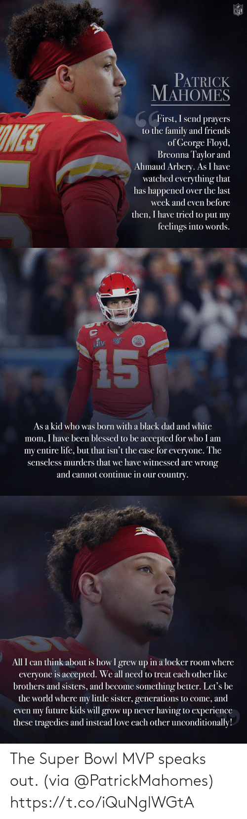 Super Bowl: The Super Bowl MVP speaks out. (via @PatrickMahomes) https://t.co/iQuNglWGtA