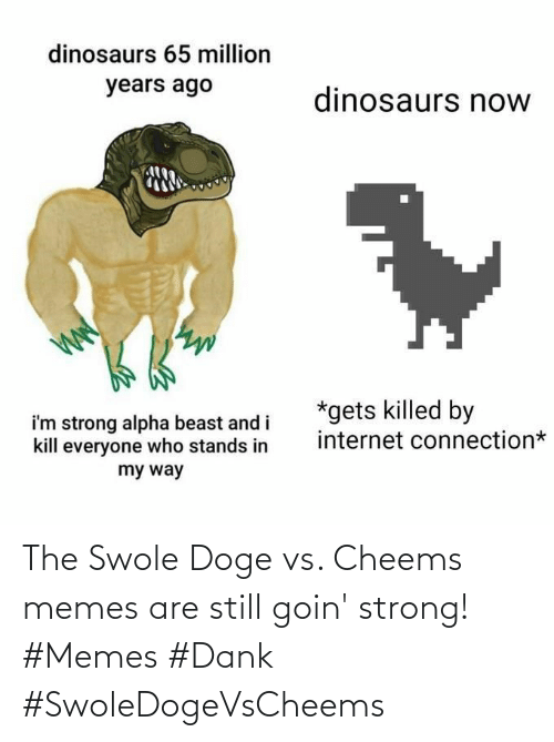 Dank, Doge, and Memes: The Swole Doge vs. Cheems memes are still goin' strong! #Memes #Dank #SwoleDogeVsCheems