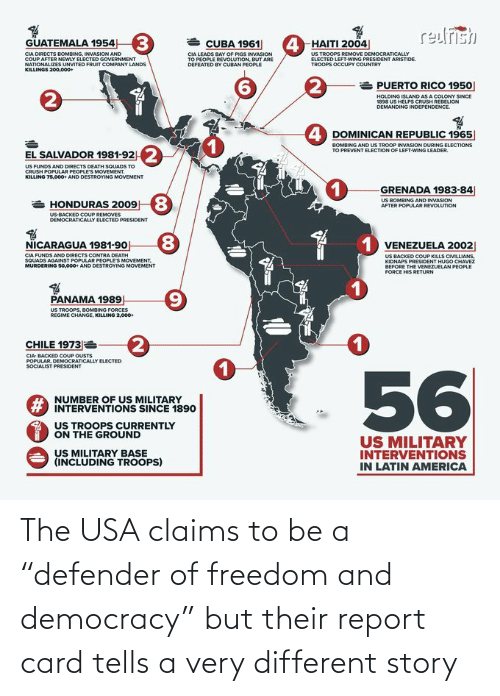 "Very: The USA claims to be a ""defender of freedom and democracy"" but their report card tells a very different story"