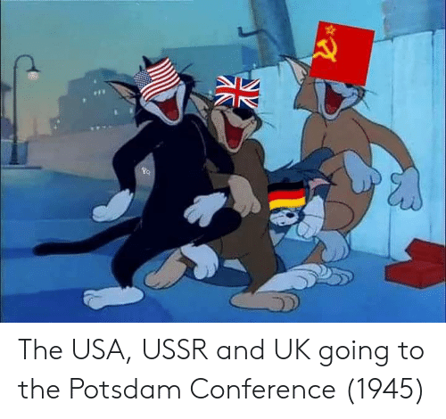 The USA USSR and UK Going to the Potsdam Conference 1945