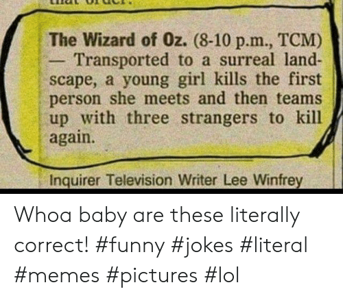 the Wizard of Oz 8-10 Pm TCM Transported to a Surreal Land