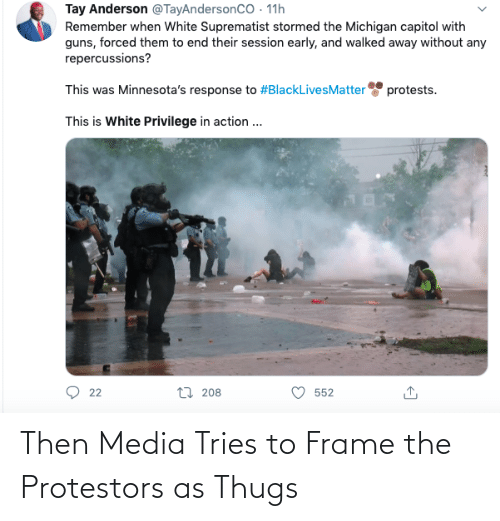 media: Then Media Tries to Frame the Protestors as Thugs