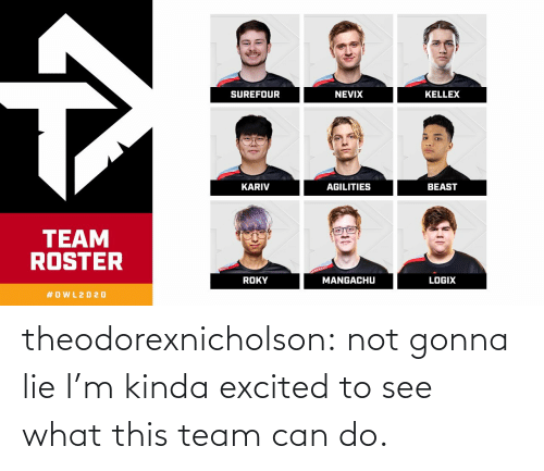 team: theodorexnicholson:  not gonna lie I'm kinda excited to see what this team can do.