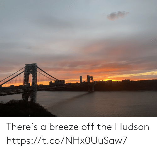 there: There's a breeze off the Hudson https://t.co/NHx0UuSaw7