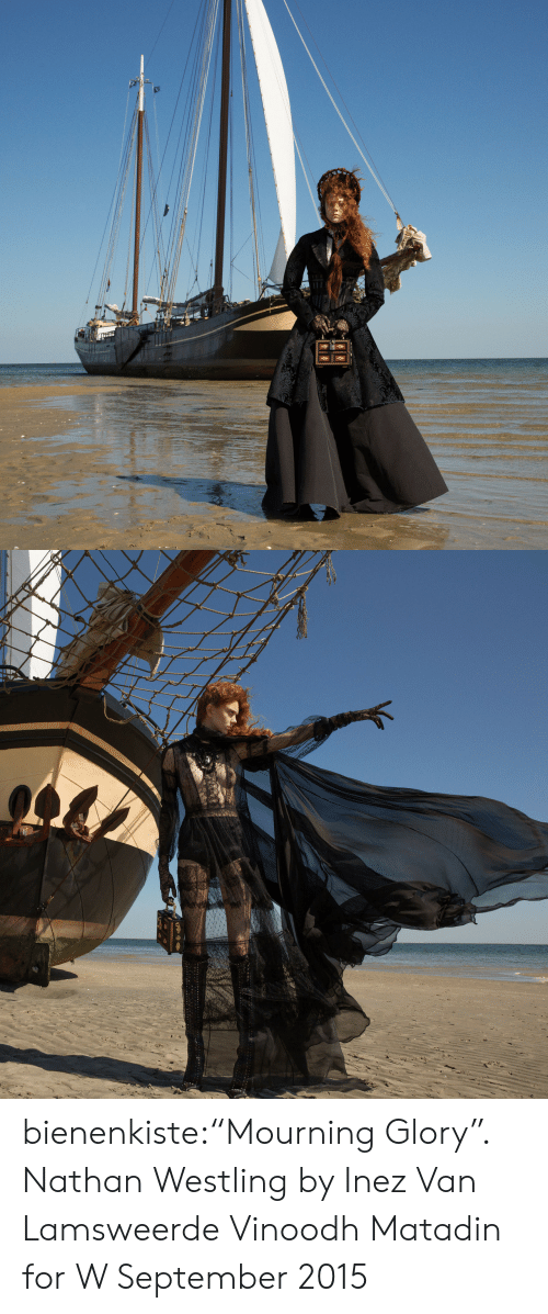 """Target, Tumblr, and Blog: THES bienenkiste:""""Mourning Glory"""". Nathan Westling by Inez Van Lamsweerde  Vinoodh Matadin for W September 2015"""