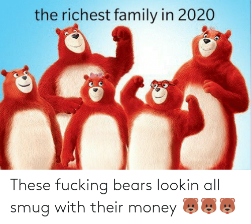 Money: These fucking bears lookin all smug with their money 🐻🐻🐻