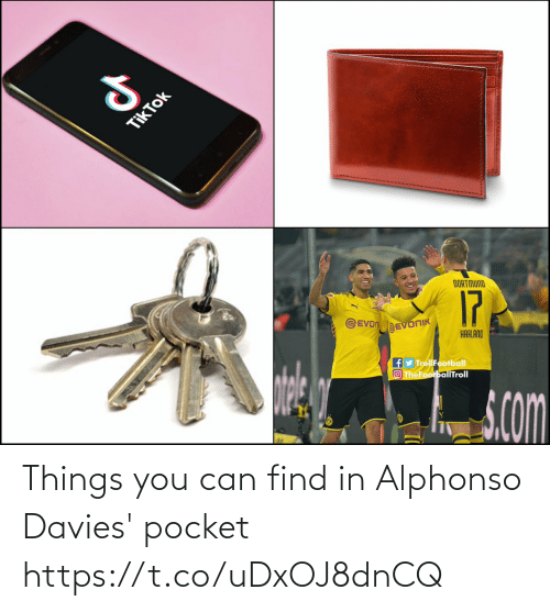 find: Things you can find in Alphonso Davies' pocket https://t.co/uDxOJ8dnCQ