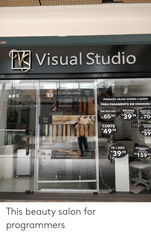 beauty: This beauty salon for programmers