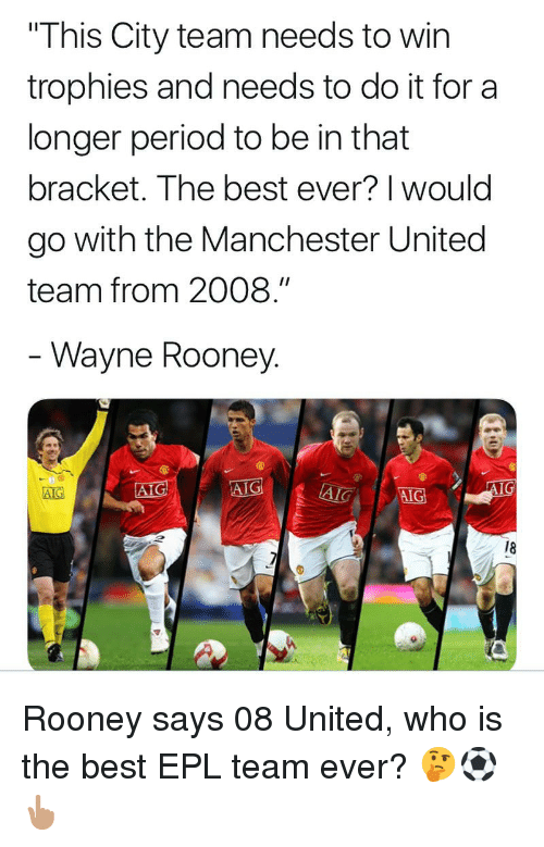 """best ever: """"This City team needs to win  trophies and needs to do it for a  longer period to be in that  bracket. The best ever? 