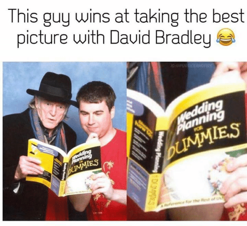 Game of Thrones: This guy wins at taking the best  picture with Dauid Bradley  10:PUR ICEANOFIRE  VWedding  Planning  POR  Medding  UMMIES  bUMMIES  Reencfor the Rest of  Wedding Planning DES  Welding oingD3