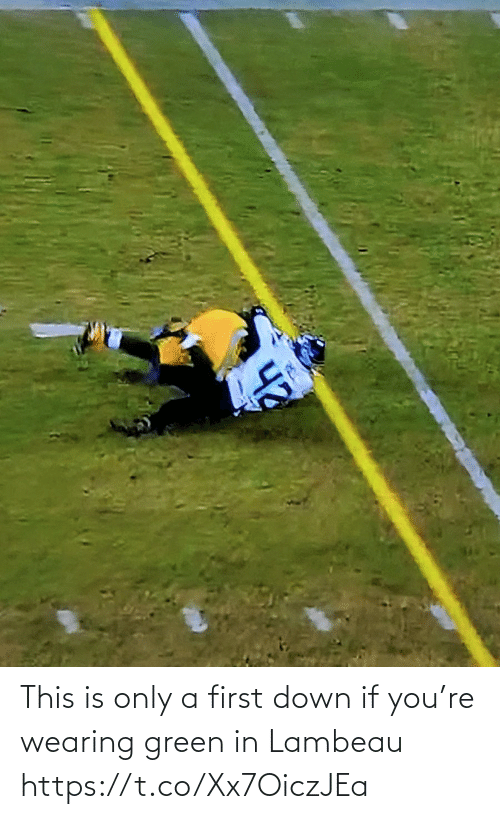 Wearing: This is only a first down if you're wearing green in Lambeau https://t.co/Xx7OiczJEa