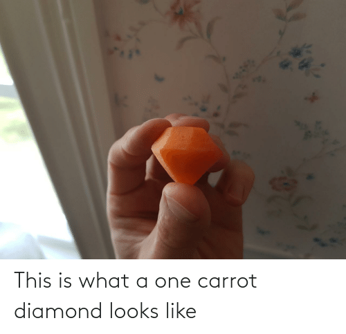 Looks Like: This is what a one carrot diamond looks like