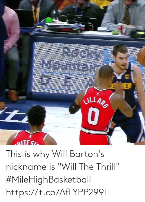 """nickname: This is why Will Barton's nickname is """"Will The Thrill""""   #MileHighBasketball   https://t.co/AfLYPP299I"""