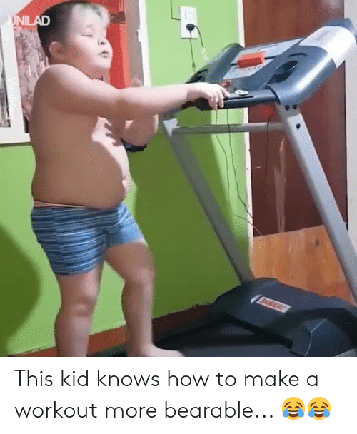 Dank, How To, and 🤖: This kid knows how to make a workout more bearable... 😂😂