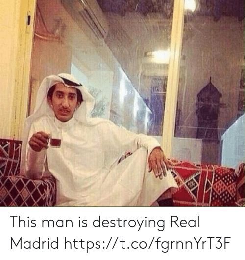 Memes, Real Madrid, and 🤖: This man is destroying Real Madrid https://t.co/fgrnnYrT3F