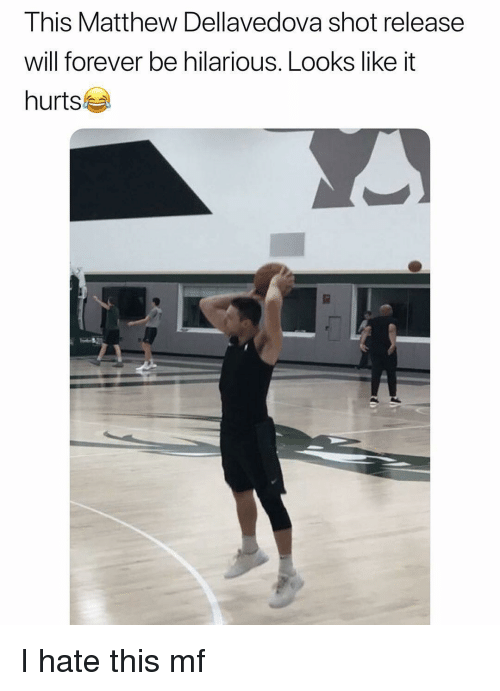 Matthew Dellavedova, Sports, and Forever: This Matthew Dellavedova shot release  will forever be hilarious. Looks like it  hurts I hate this mf