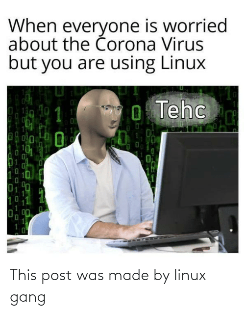 Gang: This post was made by linux gang