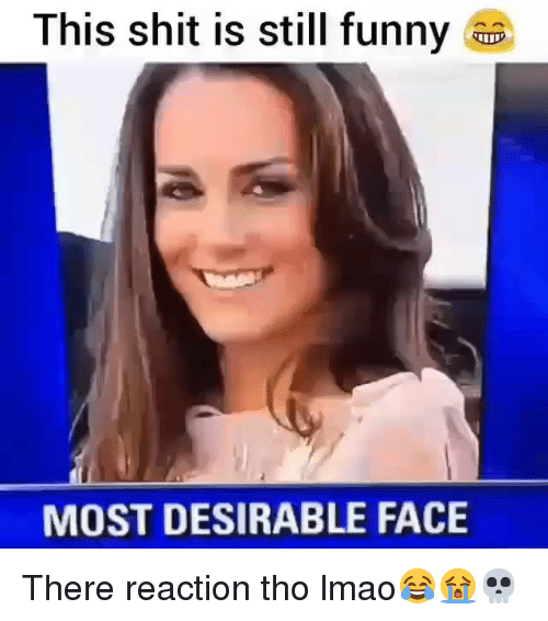 Funny, Lmao, and Shit: This shit is still funny  MOST DESIRABLE FACE There reaction tho lmao😂😭💀