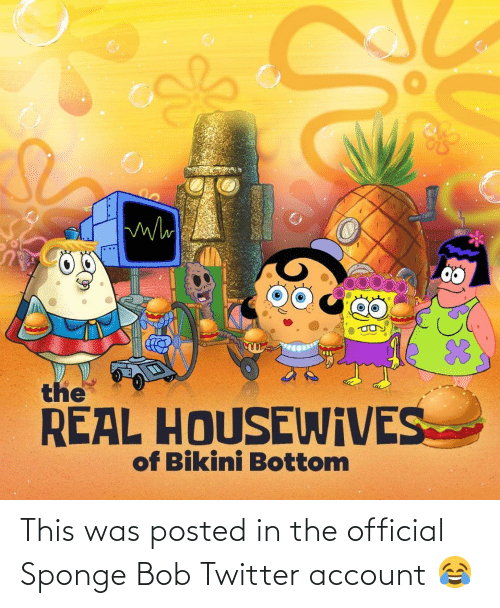 account: This was posted in the official Sponge Bob Twitter account 😂