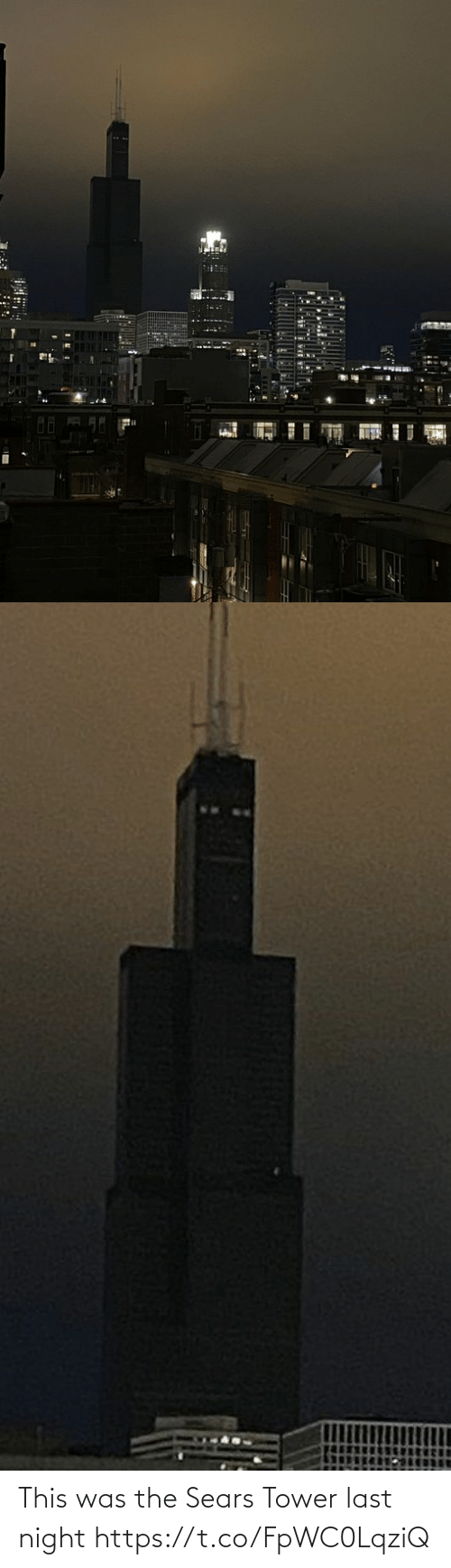 tower: This was the Sears Tower last night https://t.co/FpWC0LqziQ