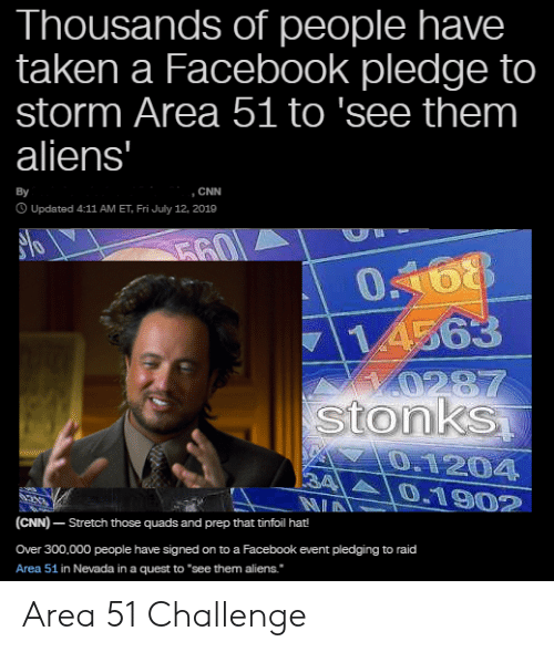 Thousands of People Have Taken a Facebook Pledge to Storm Area 51 to