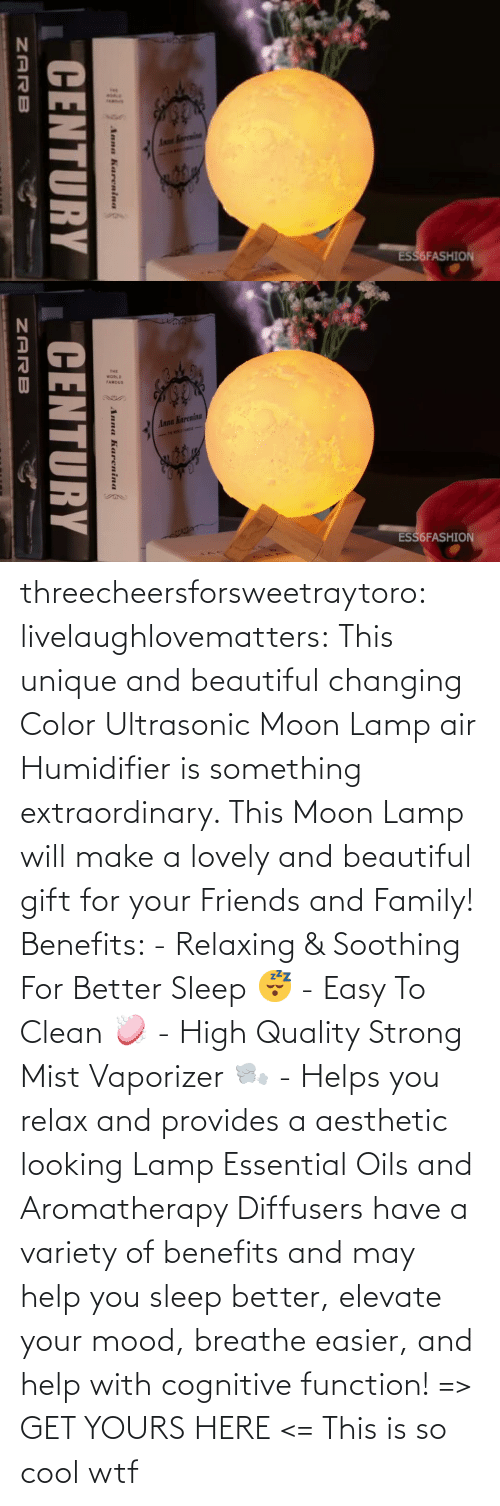 yours: threecheersforsweetraytoro: livelaughlovematters:   This unique and beautiful changing Color Ultrasonic Moon Lamp air Humidifier is something extraordinary. This Moon Lamp will make a lovely and beautiful gift for your Friends and Family! Benefits:  - Relaxing & Soothing For Better Sleep 😴 - Easy To Clean 🧼 - High Quality Strong Mist Vaporizer 🌬️ - Helps you relax and provides a aesthetic looking Lamp Essential Oils and Aromatherapy Diffusers have a variety of benefits and may help you sleep better, elevate your mood, breathe easier, and help with cognitive function! => GET YOURS HERE <=    This is so cool wtf