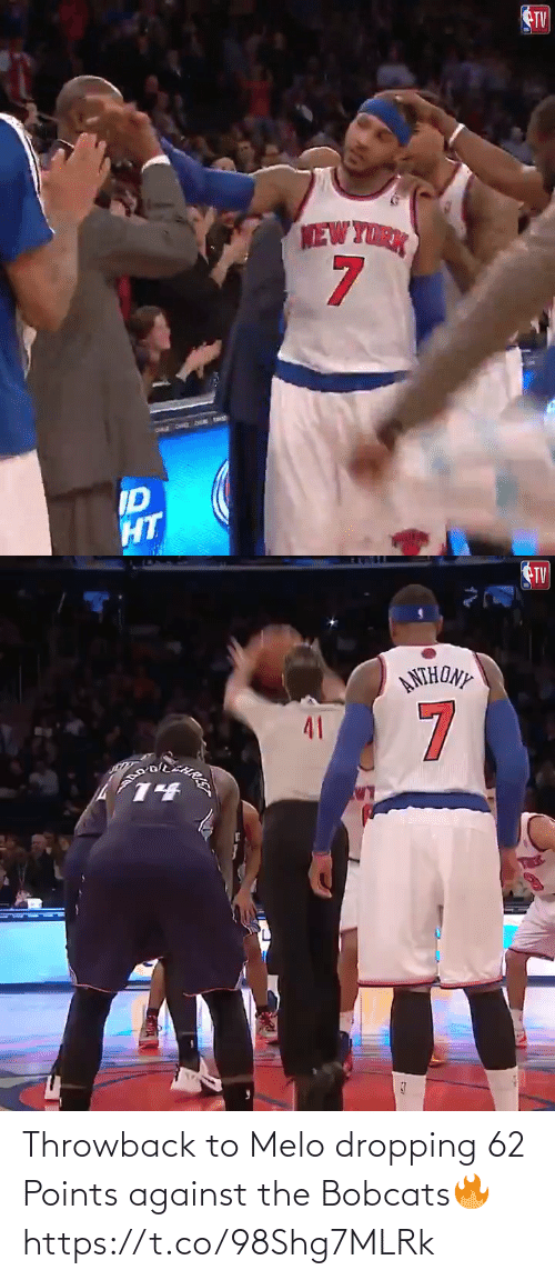 Against: Throwback to Melo dropping 62 Points against the Bobcats🔥 https://t.co/98Shg7MLRk
