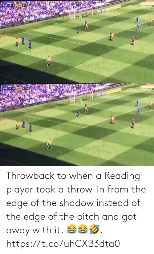 shadow: Throwback to when a Reading player took a throw-in from the edge of the shadow instead of the edge of the pitch and got away with it. 😂😂🤣.  https://t.co/uhCXB3dta0