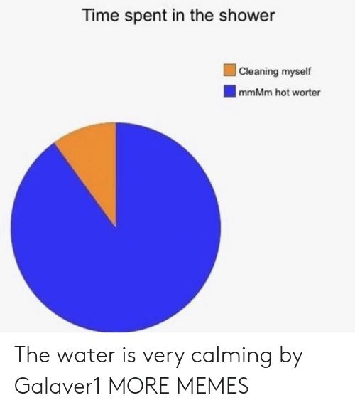 Dank, Memes, and Shower: Time spent in the shower  Cleaning myself  |mmMm hot worter The water is very calming by Galaver1 MORE MEMES