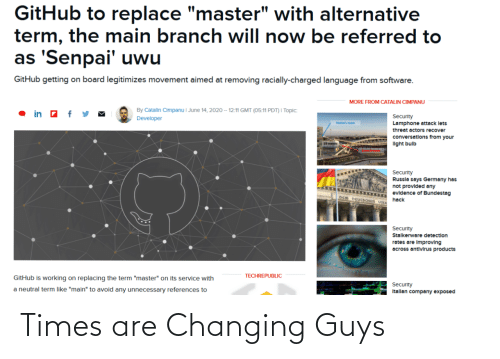 Are: Times are Changing Guys