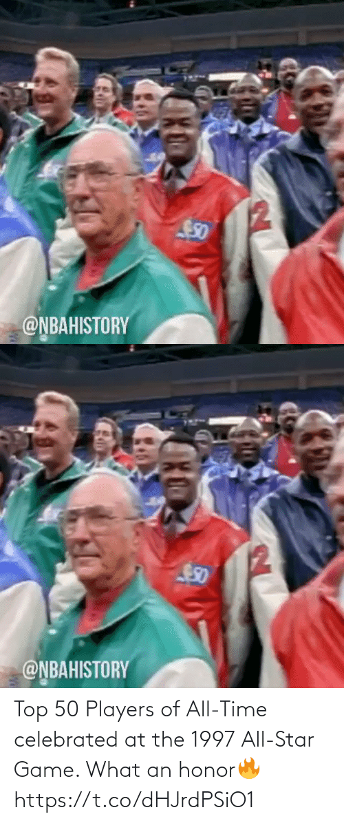 Star: Top 50 Players of All-Time celebrated at the 1997 All-Star Game. What an honor🔥 https://t.co/dHJrdPSiO1