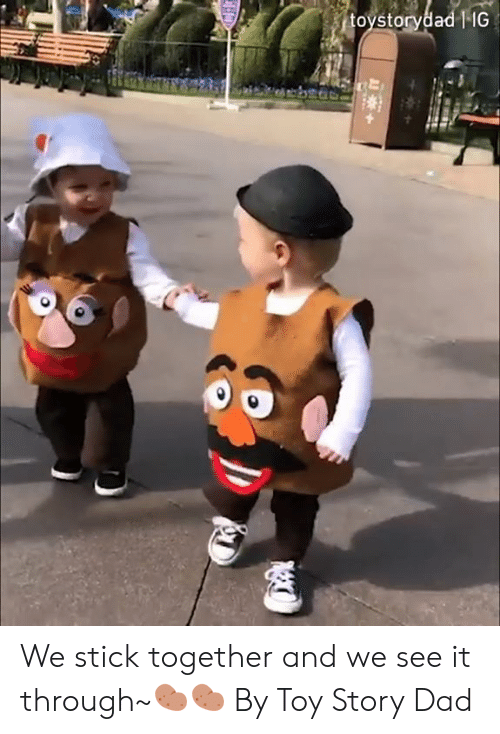 Dad, Dank, and Toy Story: toystorydad   IG  H We stick together and we see it through~🥔🥔  By Toy Story Dad