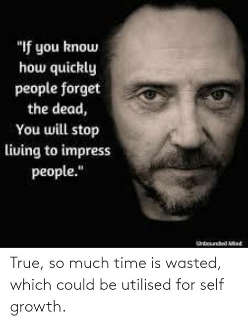 Could: True, so much time is wasted, which could be utilised for self growth.