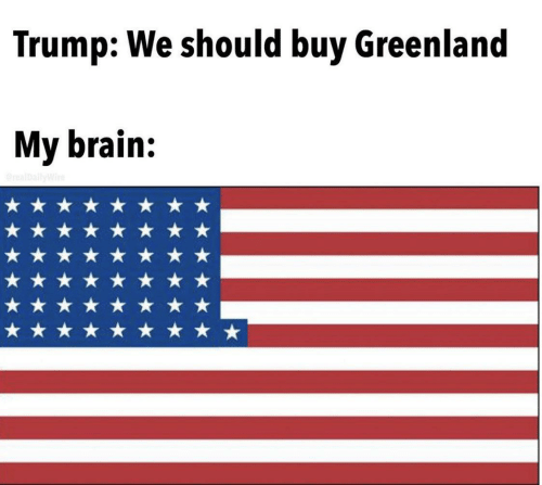 greenland: Trump: We should buy Greenland  My brain:  realDallyWire