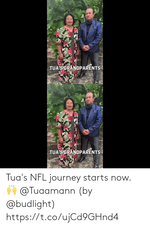 Journey: Tua's NFL journey starts now. 🙌 @Tuaamann  (by @budlight) https://t.co/ujCd9GHnd4