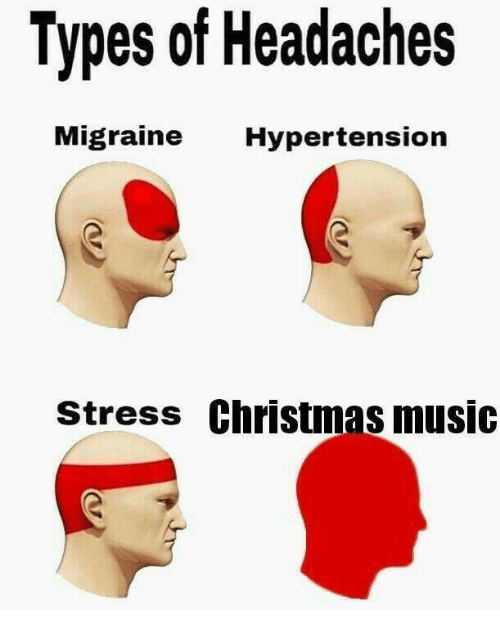 hypertension: Types of Headaches  Migraine Hypertension  stress Christmas music