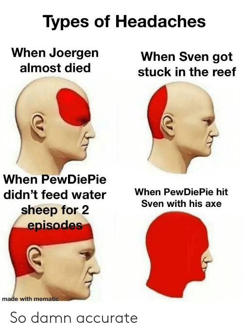 Types of Headaches When Joergen When Sven Got Almost Died Stuck in