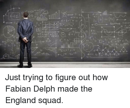 Squadding: TzOiw  0  €2 Just trying to figure out how Fabian Delph made the England squad.