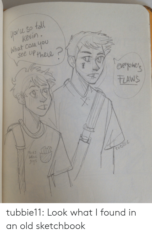 Target, Tumblr, and Blog: u So toll  keviny  what couu you  see up new  zAwS  t s  fou  Tu D tubbie11:  Look what I found in an old sketchbook