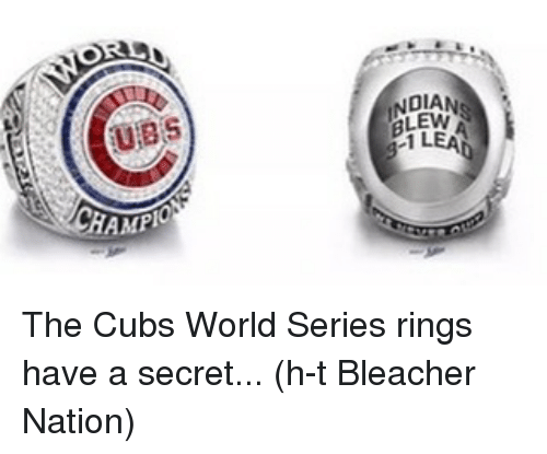 ubs: UBS  CHAMPIO  BLEW The Cubs World Series rings have a secret... (h-t Bleacher Nation)