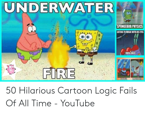 UNDERWATER SPONGEBOB PHYSICS LISTENS TO MUSIC WITH HIS EYES