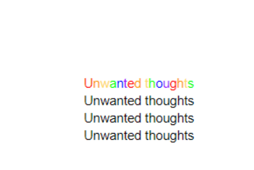 Unwanted and  Thoughts: Unwanted thoughts  Unwanted thoughts  Unwanted thoughts  Unwanted thoughts