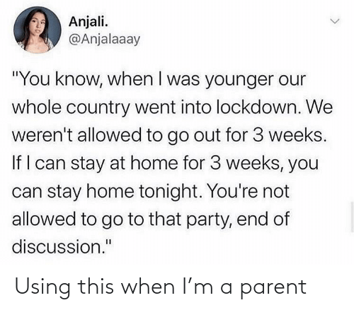 When I: Using this when I'm a parent