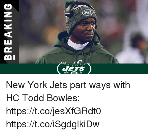 Memes, New York, and New York Jets: VETS New York Jets part ways with HC Todd Bowles: https://t.co/jesXfGRdt0 https://t.co/iSgdglkiDw