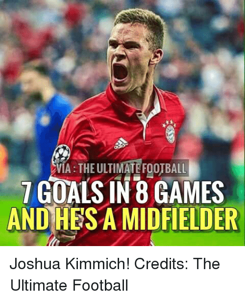 Kimmich: VIA THE ULTIMATEFOOTBALL  7 GOALS IN B GAMES  AND HESA MIDFIELDER Joshua Kimmich!  Credits: The Ultimate Football