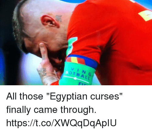 """curses: VIN  OTBALL All those """"Egyptian curses"""" finally came through. https://t.co/XWQqDqApIU"""