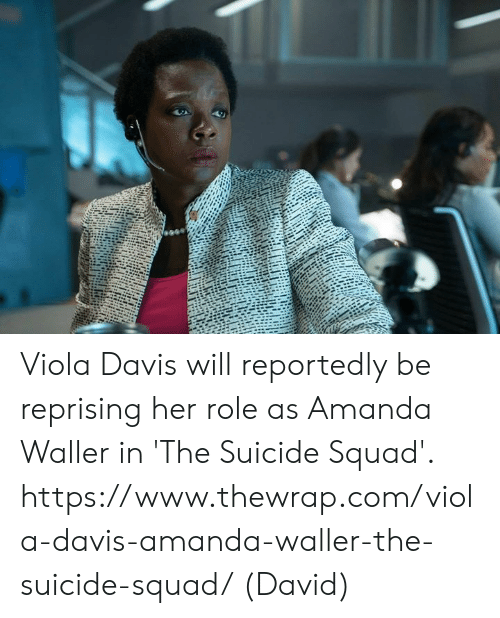 Memes, Squad, and Suicide Squad: Viola Davis will reportedly be reprising her role as Amanda Waller in 'The Suicide Squad'.  https://www.thewrap.com/viola-davis-amanda-waller-the-suicide-squad/  (David)