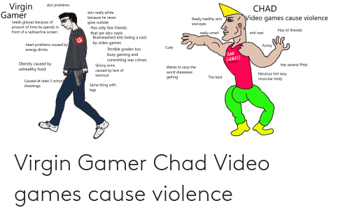 Virgin: Virgin Gamer Chad Video games cause violence