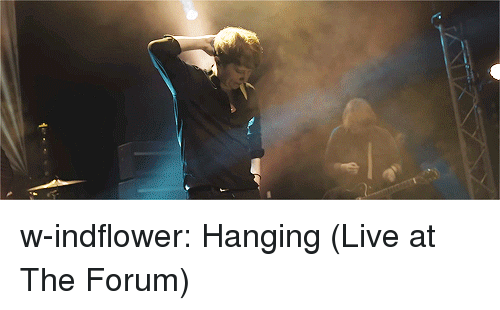 Tumblr, youtube.com, and Blog: w-indflower:  Hanging (Live at The Forum)